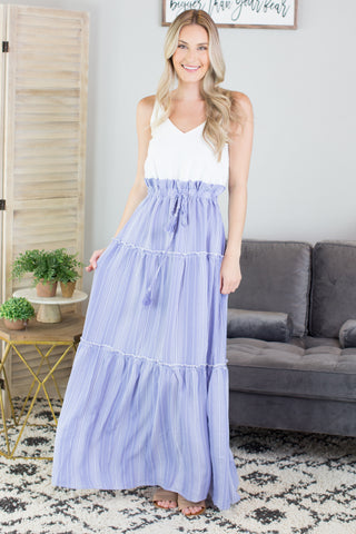 Ocean Sunset Maxi Dress