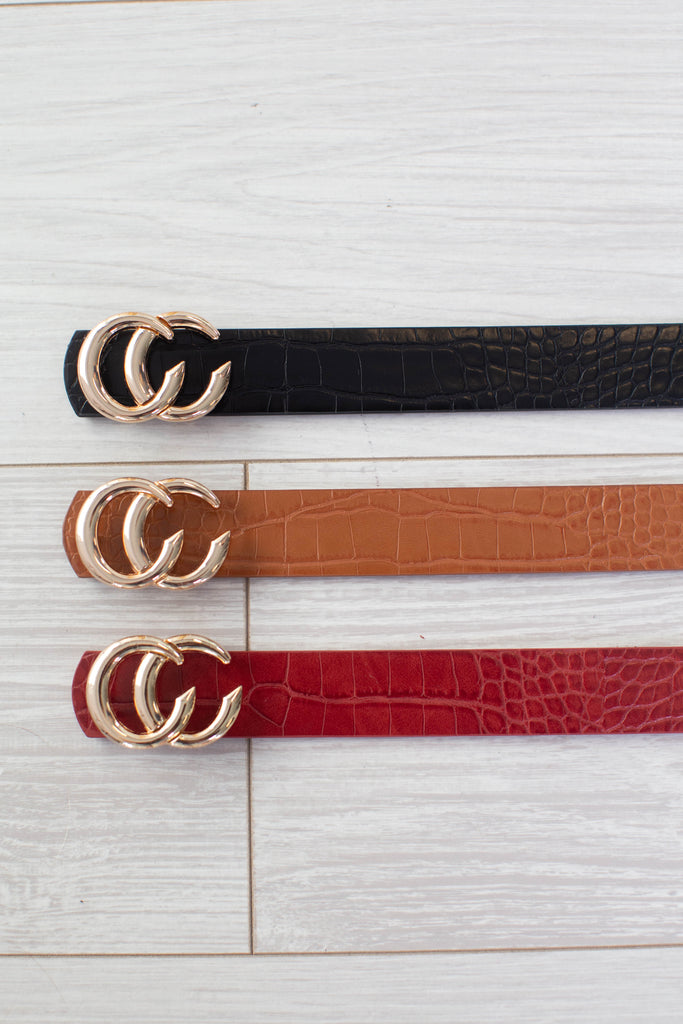 Double C Belt- 3 colors!