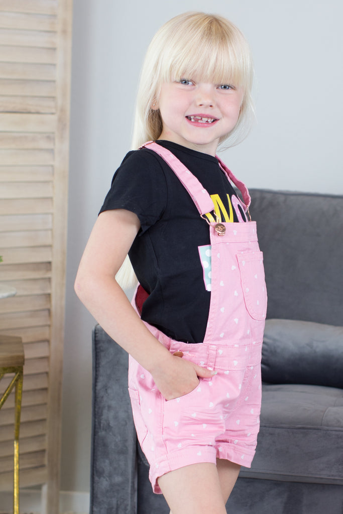 Kids- Love is in the Air Short Overalls