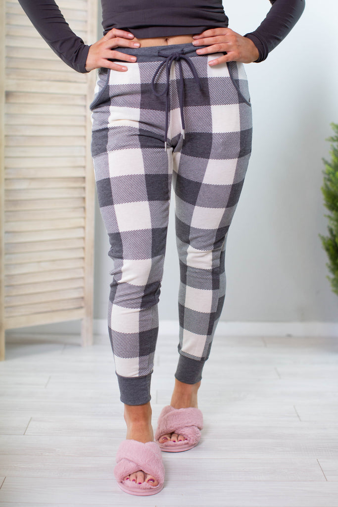 Holiday Plaid Joggers