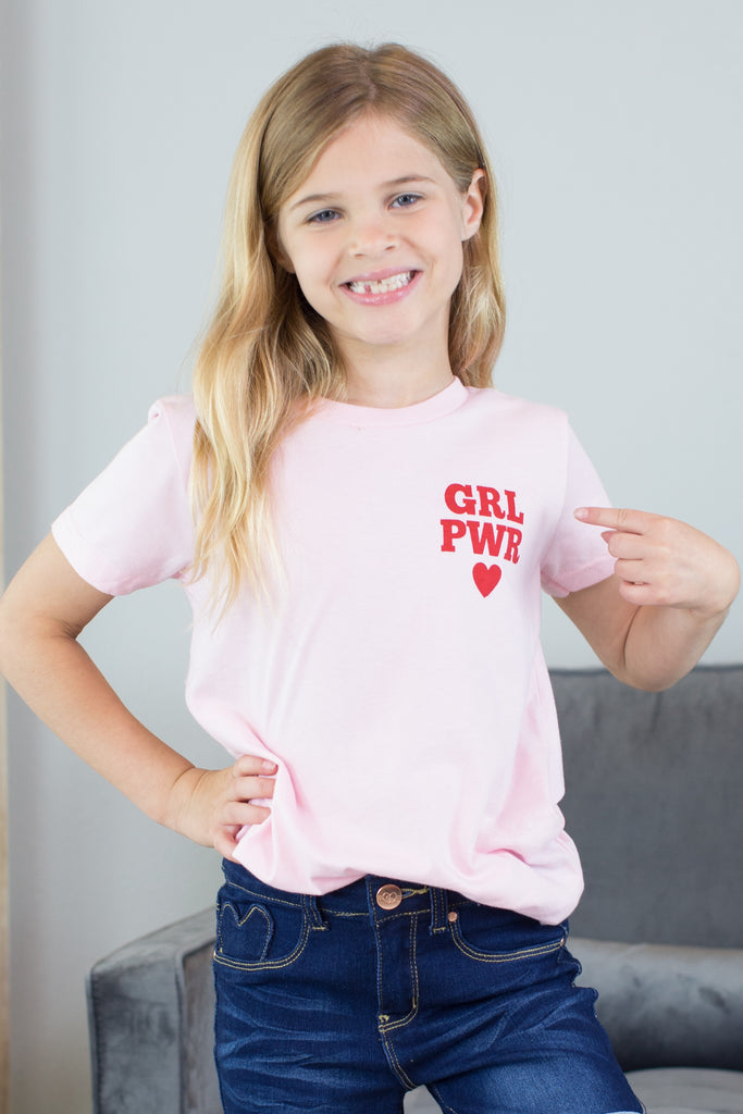 Kids- Girl Power Graphic Tee- 2 colors!