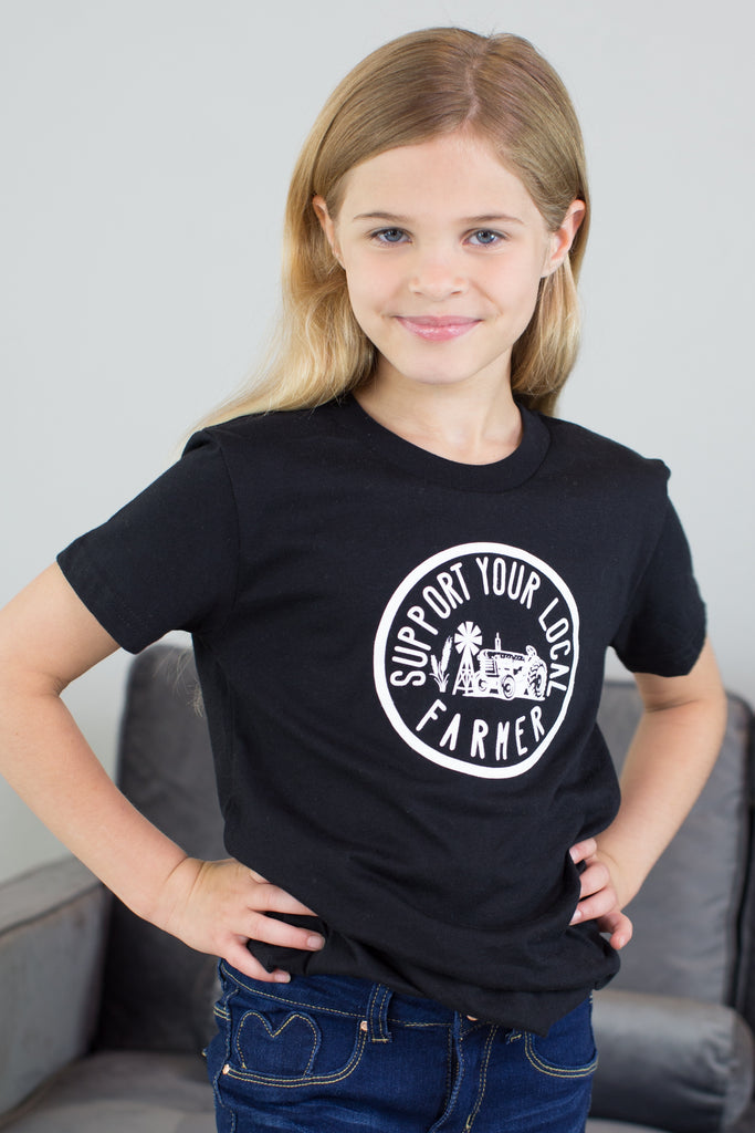 Kids-Support Your Local Farmer Top