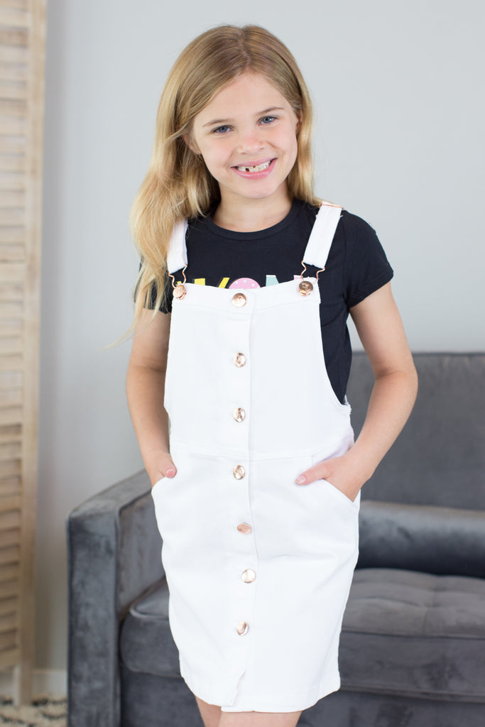 Kids- Buttons Away Accent Romper