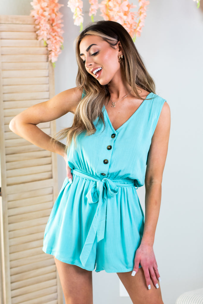 Shelby Front Tie Romper