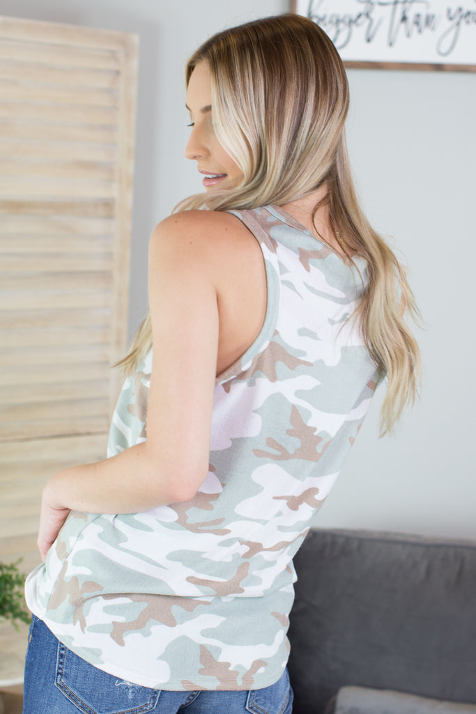 Army Crawl Sleeveless Top