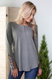 Janie Paisley Cold Shoulder Top