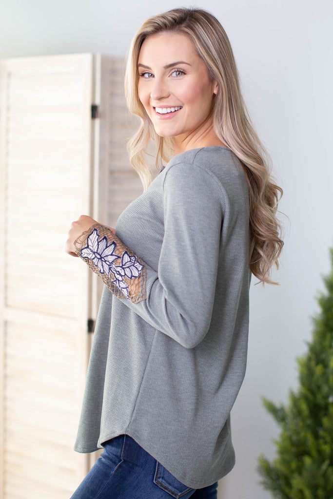 Flower Child Crochet Accent Top