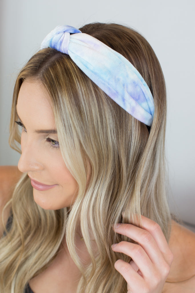 Tie Dye Knot Top Headband - 4 Colors