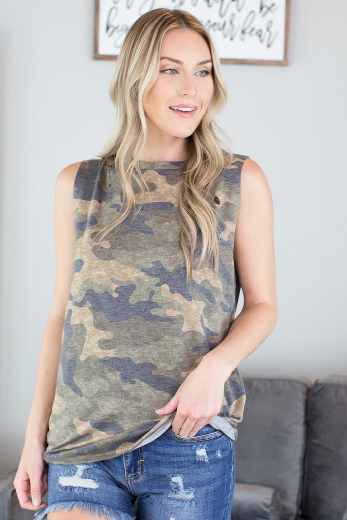 The Elite Distressed Top