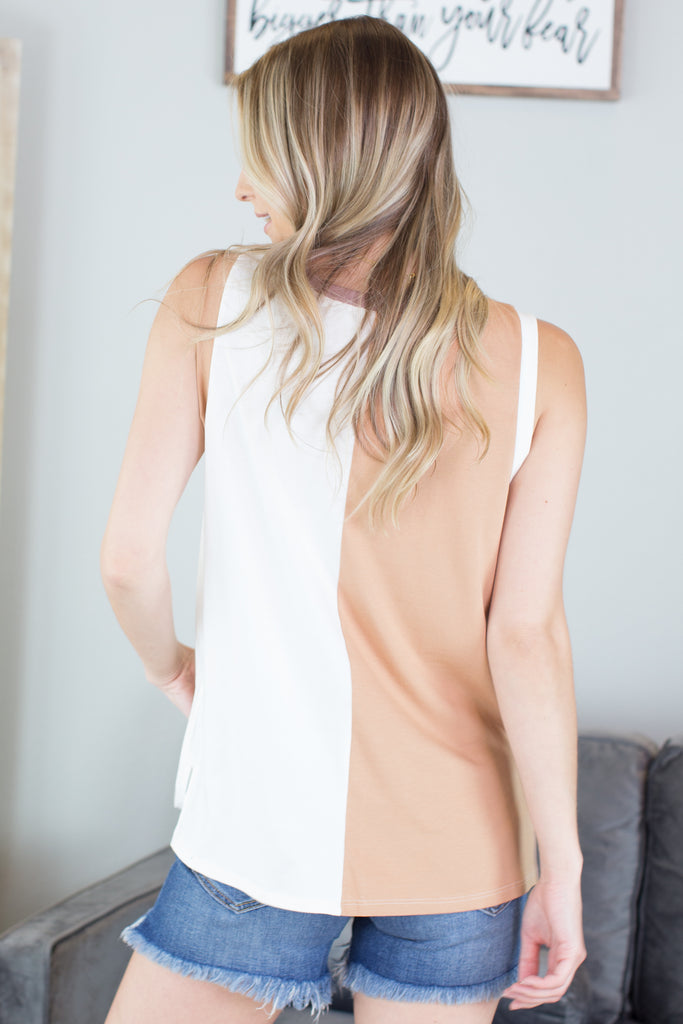Colby Sleeveless Color Block Top