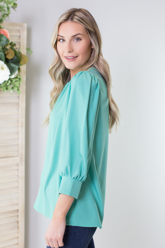 Peony 3/4 Sleeve Blouse - 2 Colors