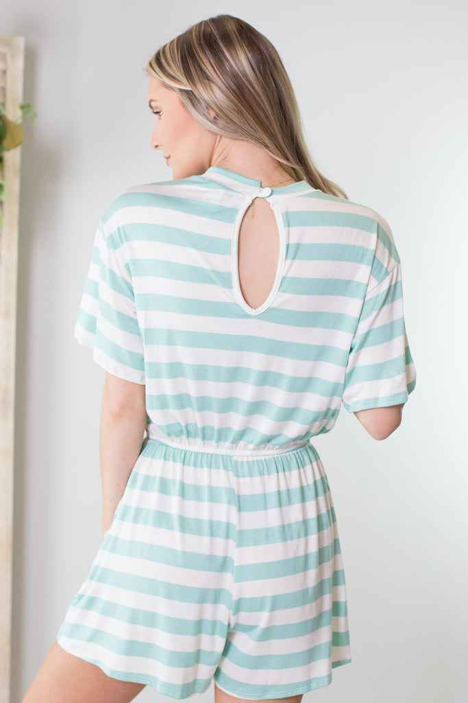 Jersey Shore Striped Romper - 2 Colors