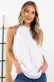 Claire Sleeveless Ruffle Top