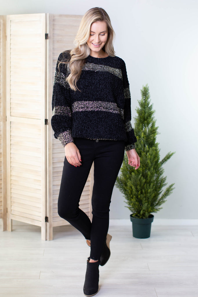 Tinsel Striped Sweater