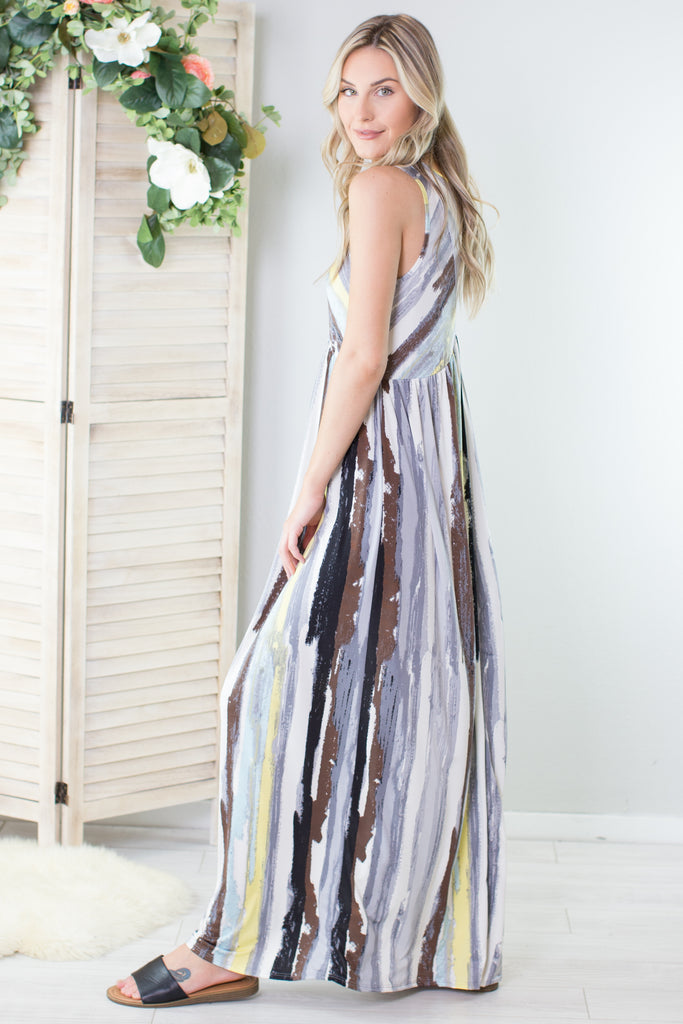 Watercolor Maxi Dress