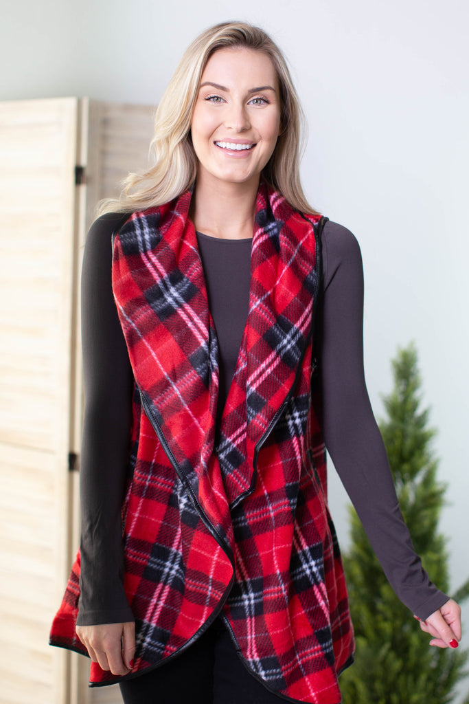 Holiday Checkered Vest