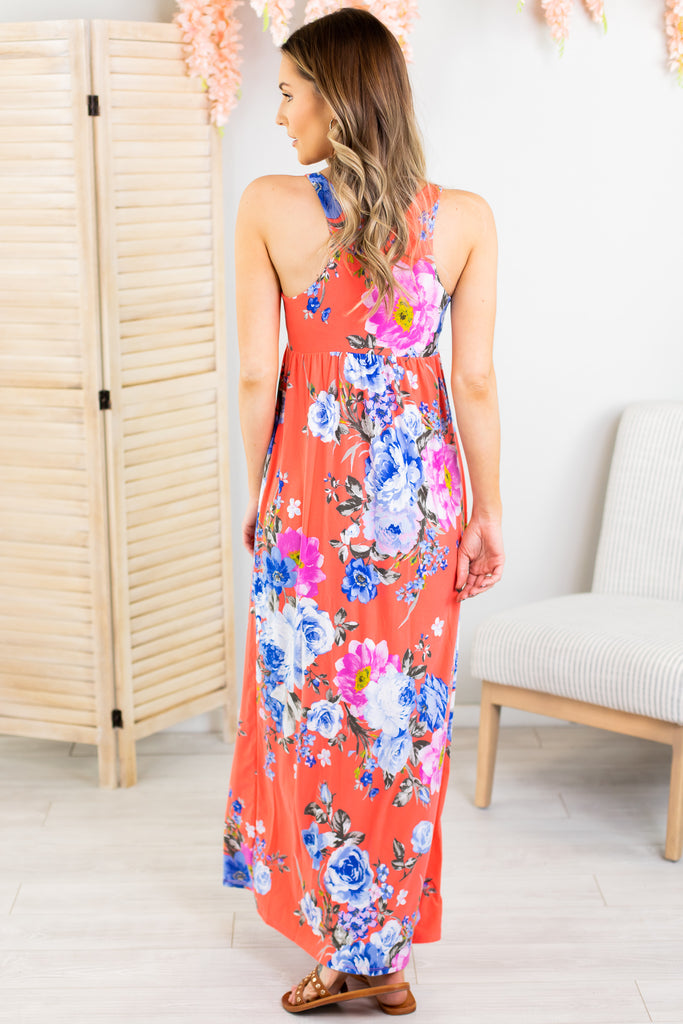 Tropical Vacation Maxi Dress-2 Colors!!