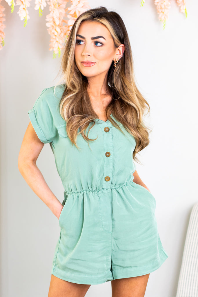 Kate Button Front Romper