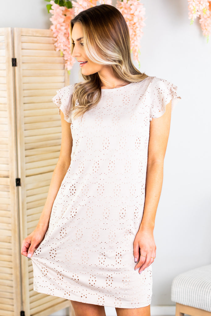 Maddy Eyelet Dress-2 Colors!!