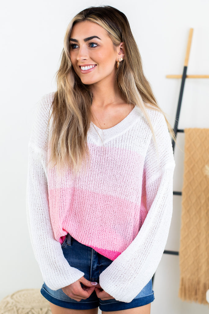 Simple Melody Crochet Accent Top