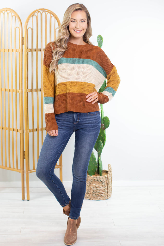 Fall Harvest Knit Sweater