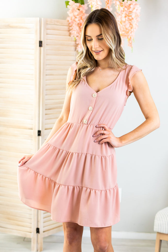Georgia Peach Tiered Dress