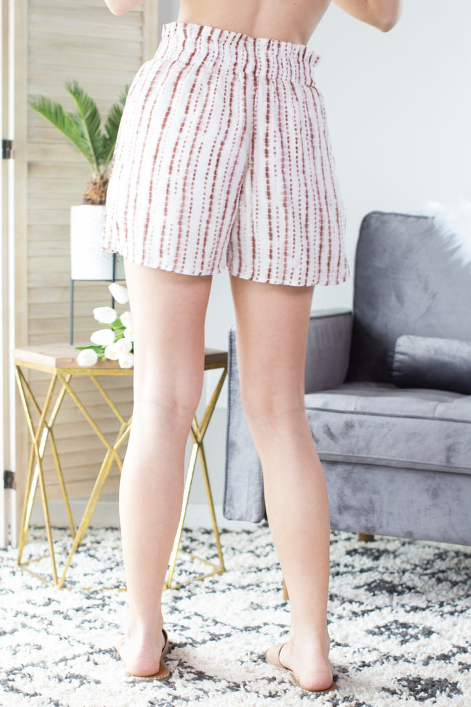Striped Bliss Tie Shorts