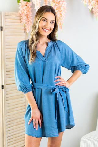 Madison Tiered Shirt Dress