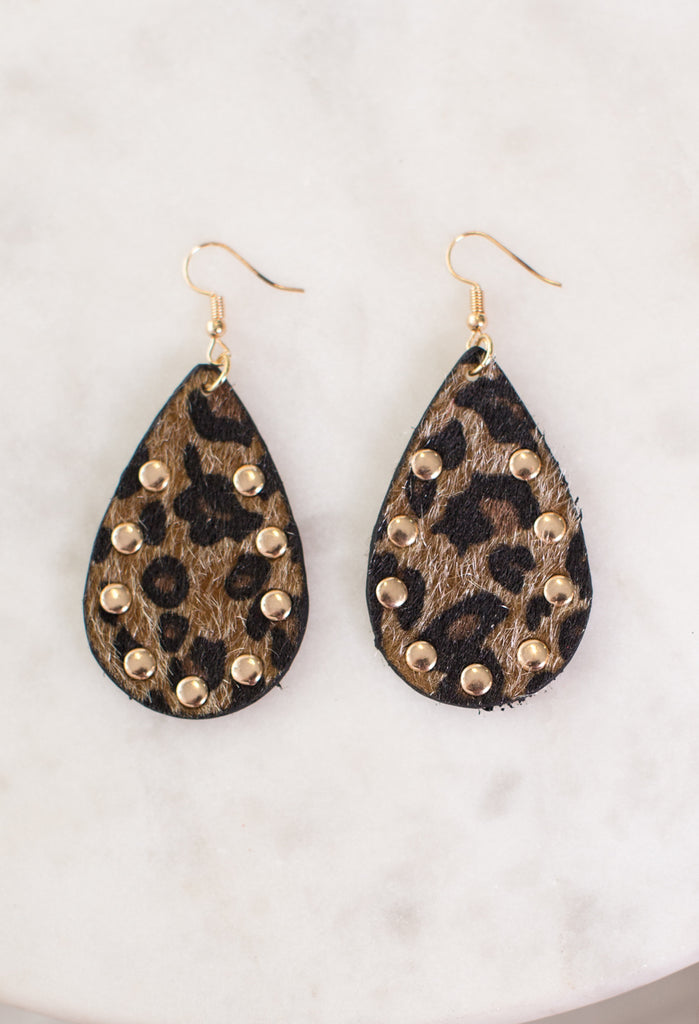Wild Animal Teardrop Earrings
