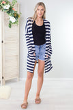 Navy Pier Striped Cardigan