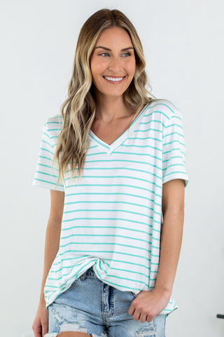 Sandy Pleated Polka Dot Top- 2 Colors!!