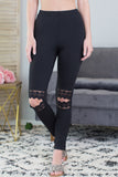 Lace Cutout Leggings