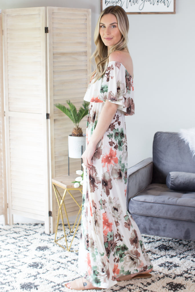Blossom Off The Shoulder Maxi