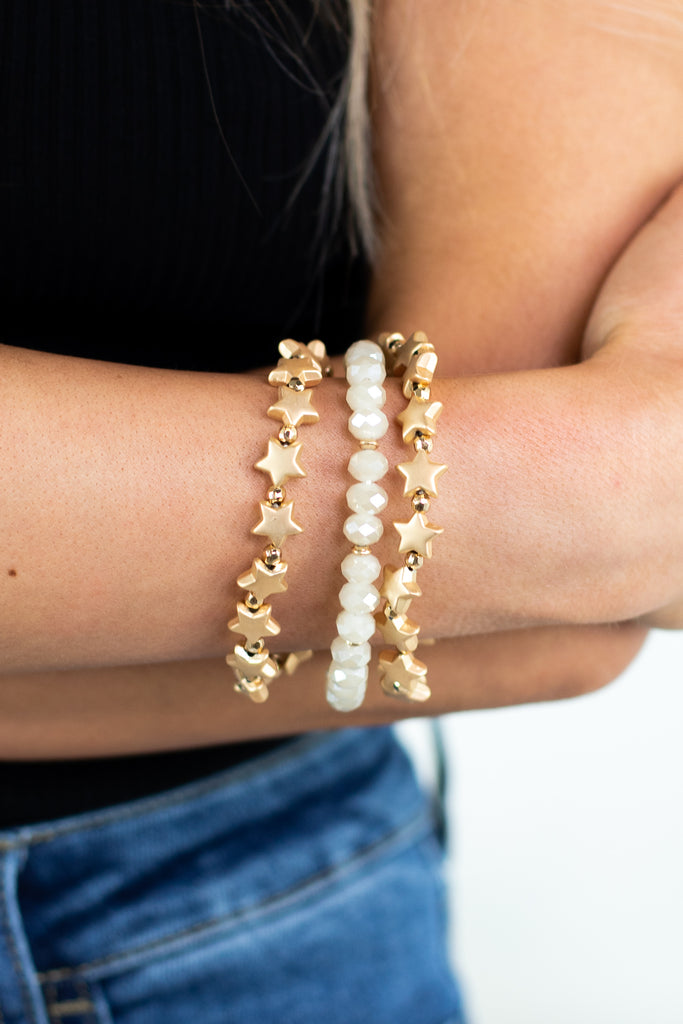 Star Stacked Bracelets- 3 colors!