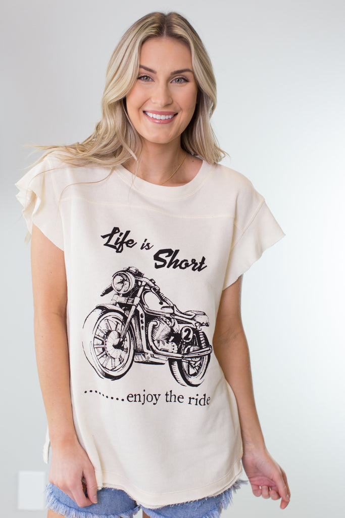 Enjoy The Ride Top - 2 Colors