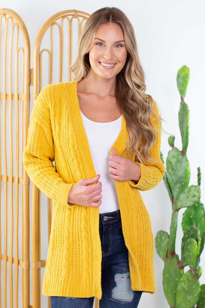 Ski Lodge Cable Knit Cardigan