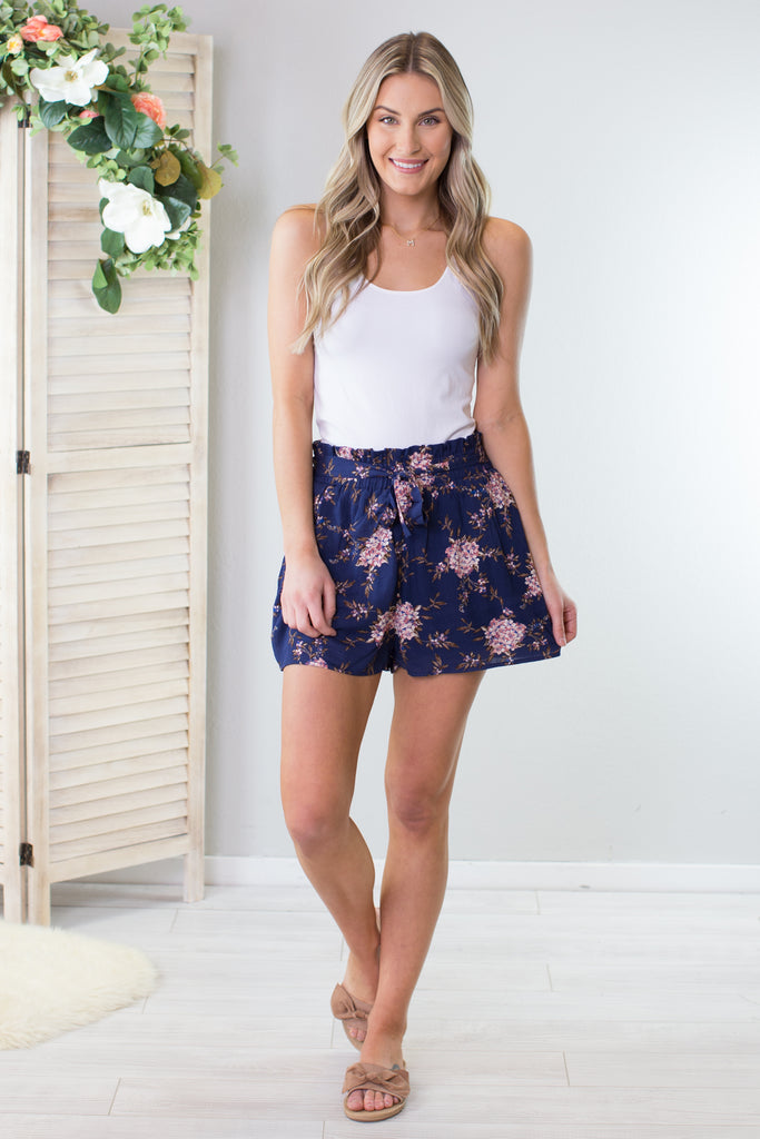 Floral Tie Shorts