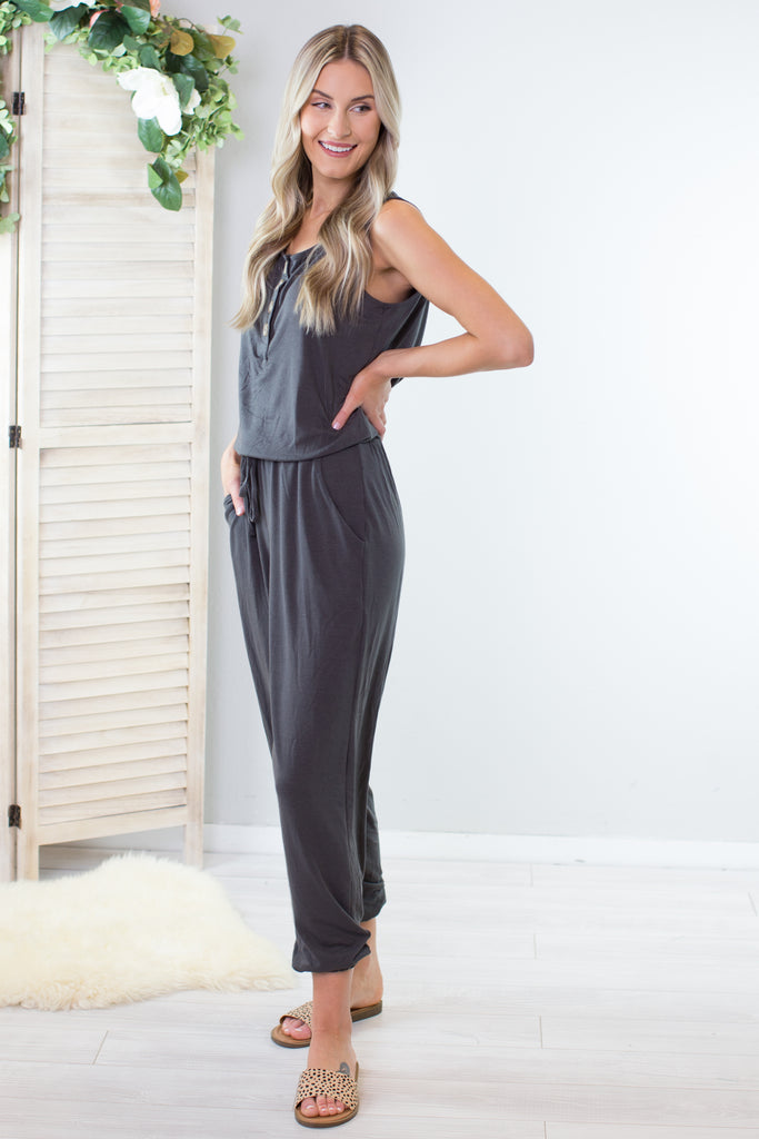 Go Anywhere Sleeveless Jumpsuit