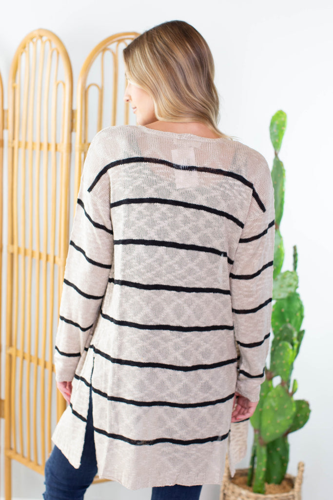 Dawn Striped Cardigan