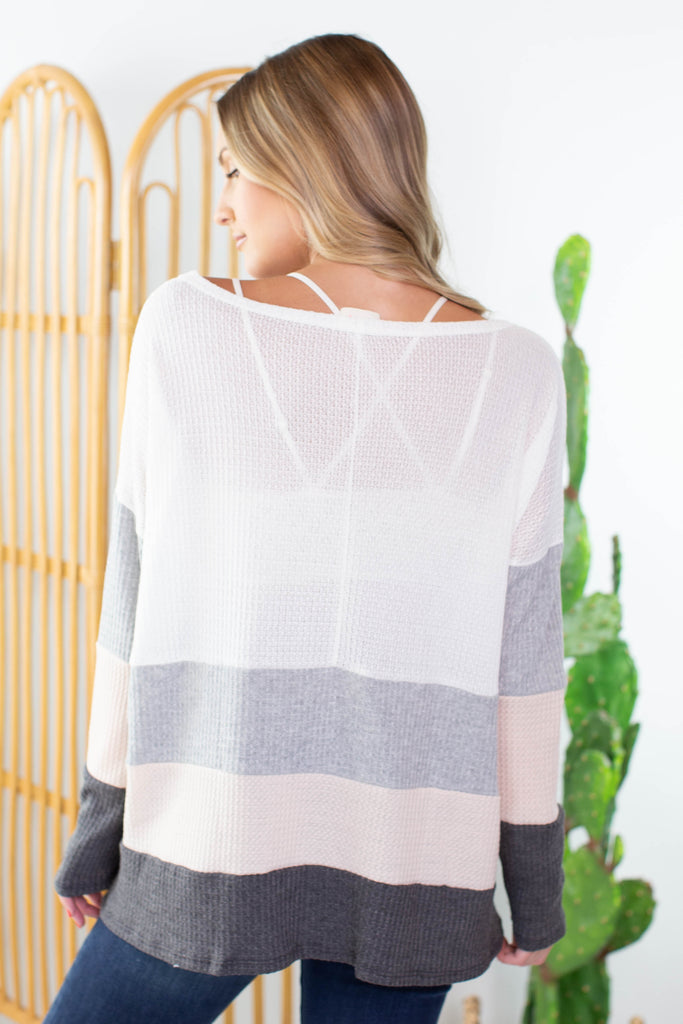 On The Horizon Color Block Top