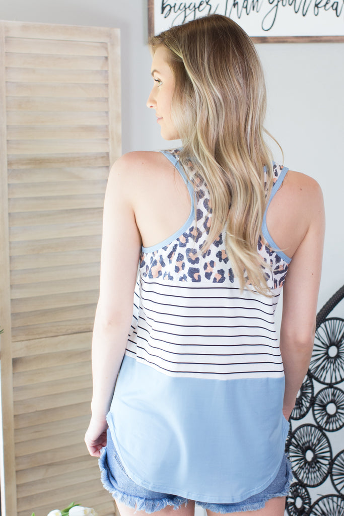 Leopard Colorblock Tank - 3 Colors