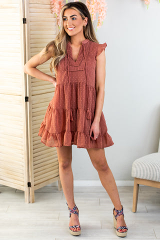 Isla Halter Ruffle Dress
