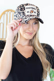 Football Mom Leopard Hat
