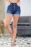 Alyssa Button Up Kan Can Denim Shorts