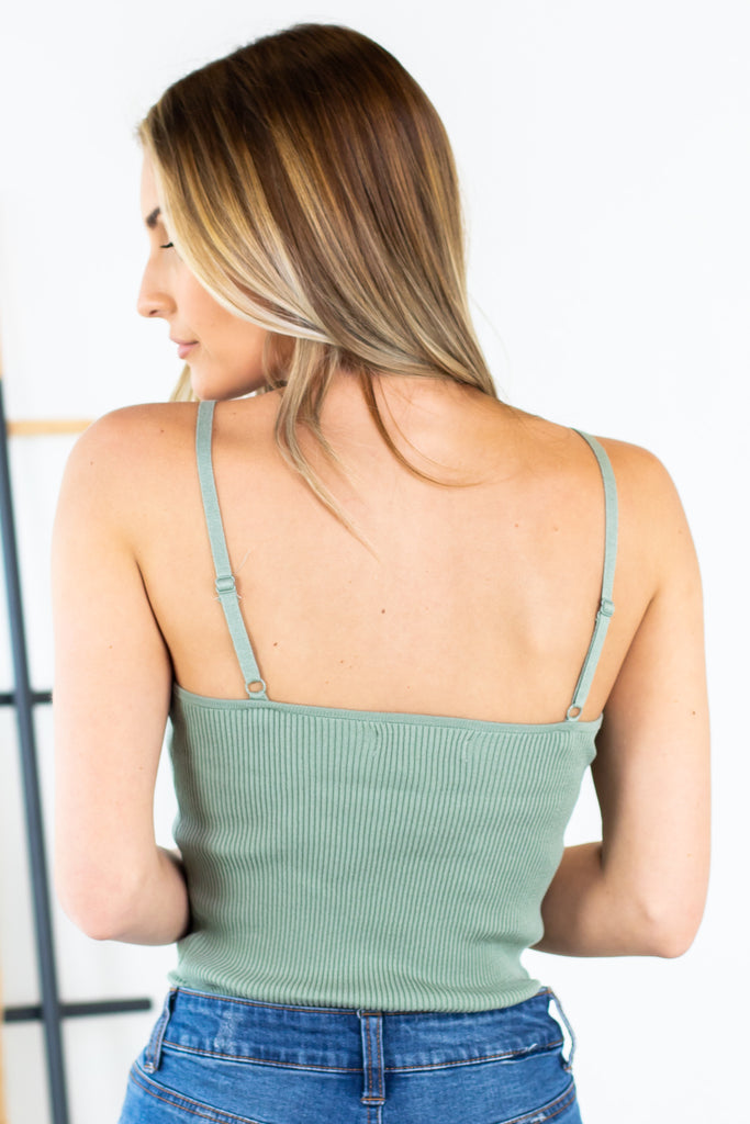 Cami Thin Strap Sweater Tank-3 Colors!!