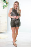 Tess Striped Romper