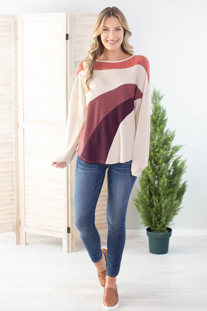 What A Wonderful World Colorblock Top