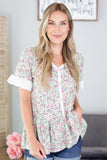 Ashley Floral Eyelet Top