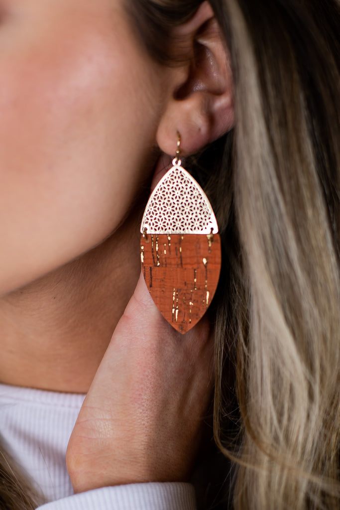 Icon Two Tone Earrings - 2 Colors