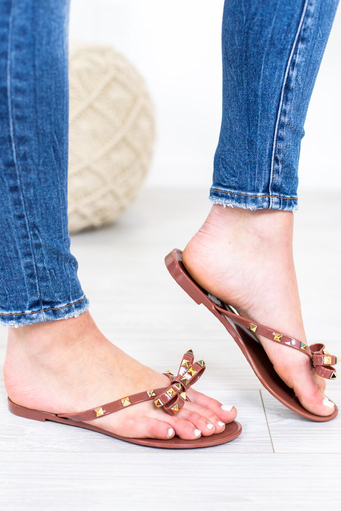 Bow Studded Sandal- 3 Colors!